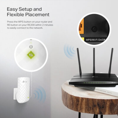 TP-Link RE200 v4.0, AC750 Dual Band Wireless Wall Plugged Range Extender
