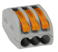 Wago 3 Way Electrical Wire Connector - Insulating spring lever Reusable Connector