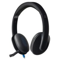 Logitech H540 Headset (Black, Wired USB)