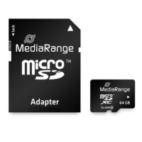 MediaRange Micro SDXC Class 10 With SD Adaptor 64 GB (eXtended Capacity) (MR955)