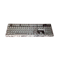 Motospeed Κ96 Wired mechanical keyboard Backlight side laser camo grey color with blue switch με γλώσα πληκτρολογίου στα Αγγλικά