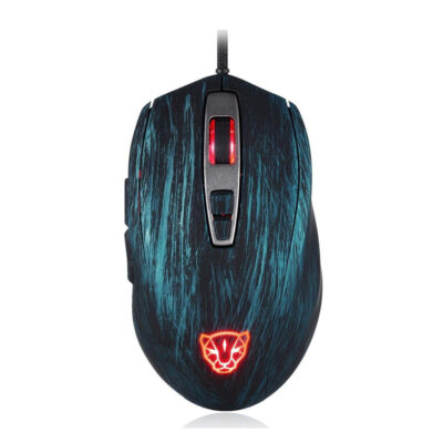 Motospeed V60 Wired gaming mouse blue color
