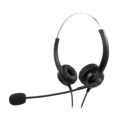 MediaRange Corded stereo headset with microphone and control panel
