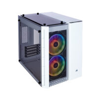 Corsair Crystal 280X RGB Tempered Glass Micro ATX Case — White (CC-9011137-WW)
