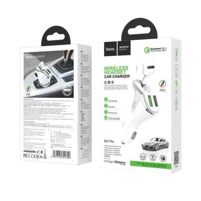 HOCO E47 PRO TRAVELLER WIRELESS HEADSET CAR CHARGER