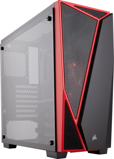 Corsair Carbide SPEC-04 Tempered Glass Mid-Tower Gaming Case — Black/Red (CC-9011117-WW)