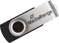 MediaRange USB 2.0 Flash Drive 16GB (Black/Silver) (MR910)