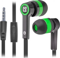 DEFENDER EARPHONES PULSE 420 BLACK & GREEN