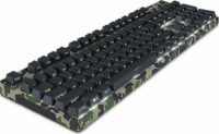 Motospeed K96 Wired mechanical keyboard Backlight side laser camo green color with black switch