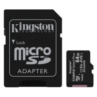 Kingston Micro Secure Digital 64GB microSDXC Canvas Select Plus 80R CL10 UHS-I Card + SD Adapter (SDCS2/64GB)