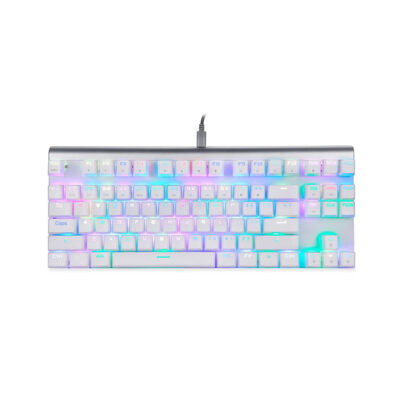 Motospeed CK101 Wired mechanical keyboard RGB white color with red switch GR layout