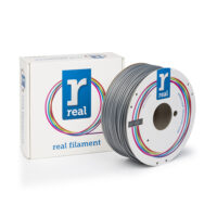 REAL ABS 3D Printer Filament - Silver - spool of 1Kg - 2.85mm (REFABSSILVER1000MM3)