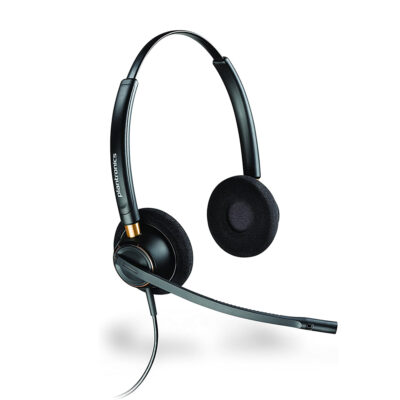 Plantronics EncorePro HW520 On Ear Headset with wire and noise canceling (89434-02)