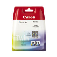 Canon Μελάνι Inkjet CLI-36 Colour Twin Pack (1511B018) (CANCLI-36CTP)
