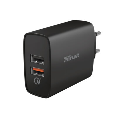 Trust Qmax 30W Ultra-Fast Dual USB Wall Charger with QC3.0 (23559) (TRS23559)