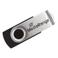 MediaRange USB 2.0 Flash Drive 4GB (Black/Silver) (MR907)