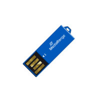 MediaRange USB 2.0 Nano Flash Drive Paper-clip stick 8GB (Blue) (MR975)