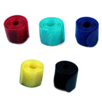 MediaRange Hook and Loop cable ties 16x215mm Assorted Colours (5) (MRCS302)