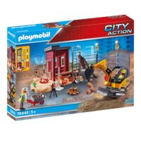 Playmobil City Action: Mini Excavator with Building Section (70443) (PLY70443)