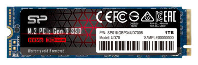 SILICON POWER SSD PCIe Gen3x4 M.2 2280 UD70, 1TB, 3.400-3.000MB/s